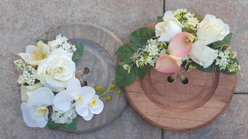 Knopen met bloemen